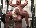 Ashlee Chambers lifts her girlfriend